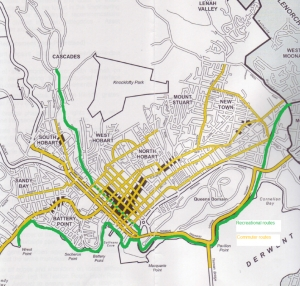 Hobart Bike Plan Map 1997