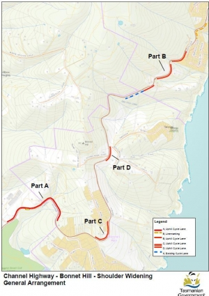 Channel Hwy - Taroona, Bonnet Hill & Kingston